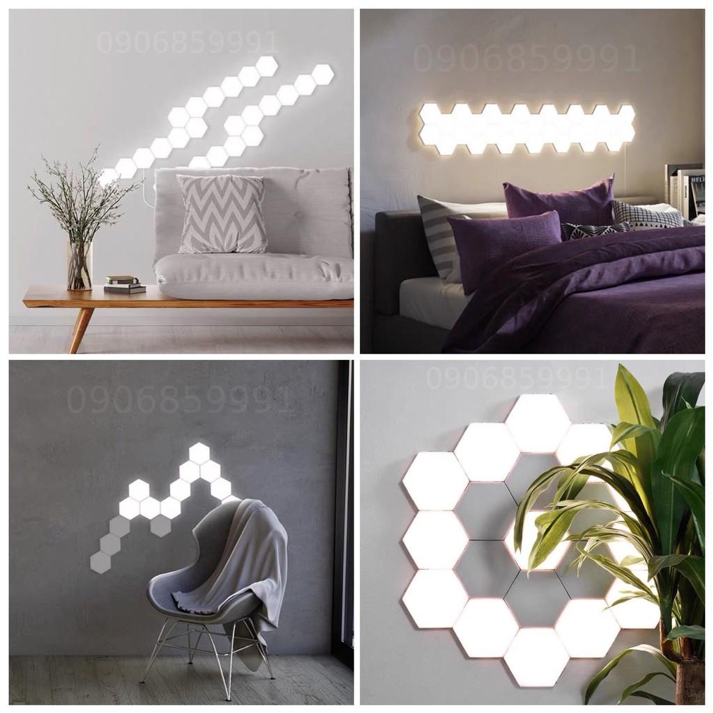 Đèn led trang trí tổ ong lắp ghép,đèn ngủ lục giác dán tường - Đèn trang trí  Thương hiệu No brand