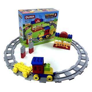 Bộ đồ chơi Duka – Ghép hình – Tàu hỏa thành phố (Z180403) – Dành cho trẻ 3-6 tuổi – 28 x 26 x 9 cm