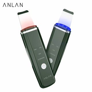 ANLAN Ultrasonic Skin Scrubber Red Blue Light Therapy Face Cleansing Lifting thumbnail
