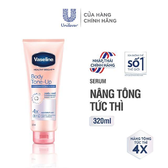 Vaseline Body Tone-Up Serum dưỡng thể nâng tông tức thì + chống nắng 320ML thumbnail