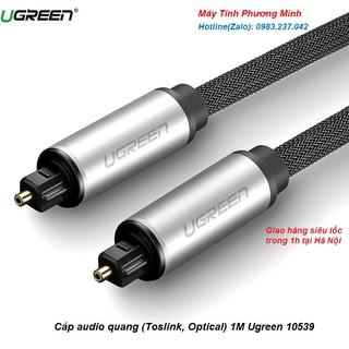 Cáp audio quang (Toslink, Optical) 1M Ugreen 10539 vỏ nhôm cao cấp- Hàng bảo hành chính hãng 18 tháng