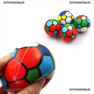 {shopping} 1PC Stress Relief Vent Ball Colorful Mini Football Squeeze Foam Ball Kids Toys{JUST}