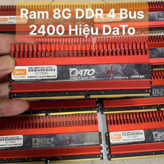 Ram 8G - DDR4 - Bus 2400 Hiệu Dato Tản Nhiệt Thép Tản To Màu Đỏ - Vi Tính Bắc Hải thumbnail