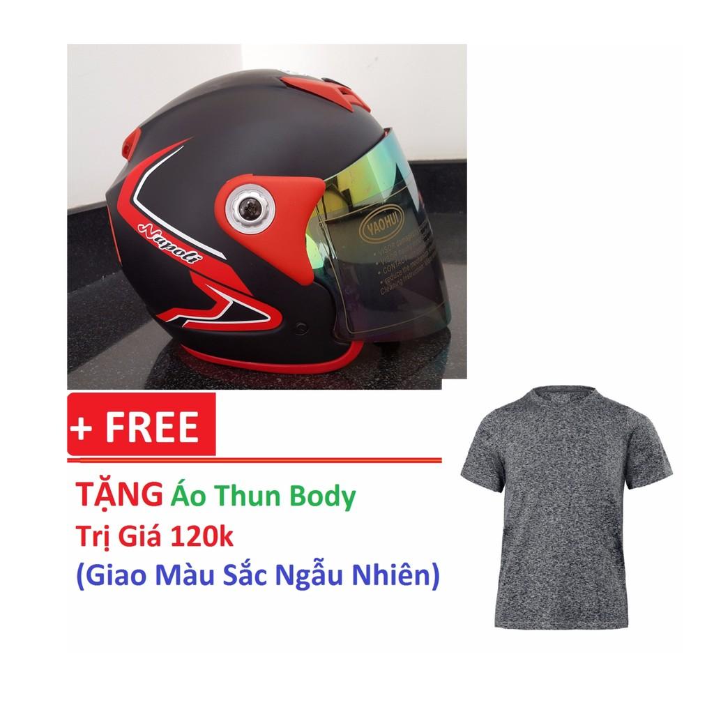 Mũ bảo hiểm FULL FACE + Tặng áo thun body