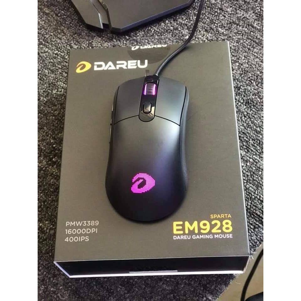 Chuột Gaming Dareu EM928 Led RGB - Hàng Chính Hãng bảo hành 24 tháng