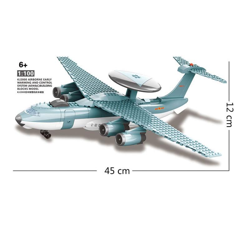 Compatible With 202pcs Fighter Plane Building Block Wange Block Creative