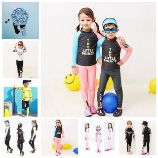 Set đồ bơi dài tay in họa tiết dễ thương dành cho bé gái