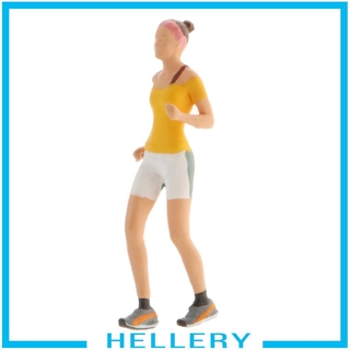 [HELLERY] 1:64 Street Sports Scenario Tiny Runner Figure Building Layout Diorama