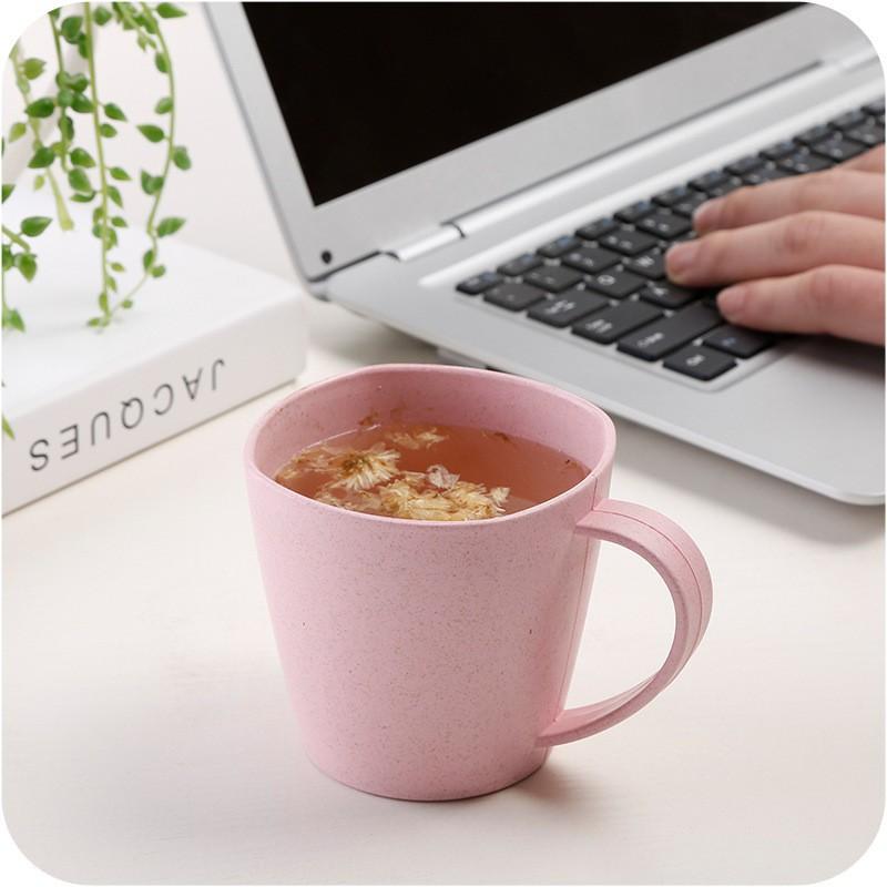 SG - Ly, cốc nhựa lúa mì thiên nhiên có quai cầm