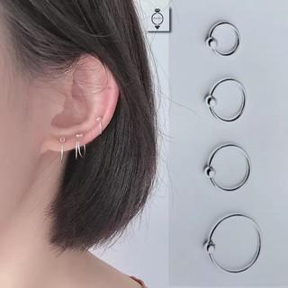 Khuyên tai bi tròn Bạc ý 925 phong cách cá tính nam nữ
