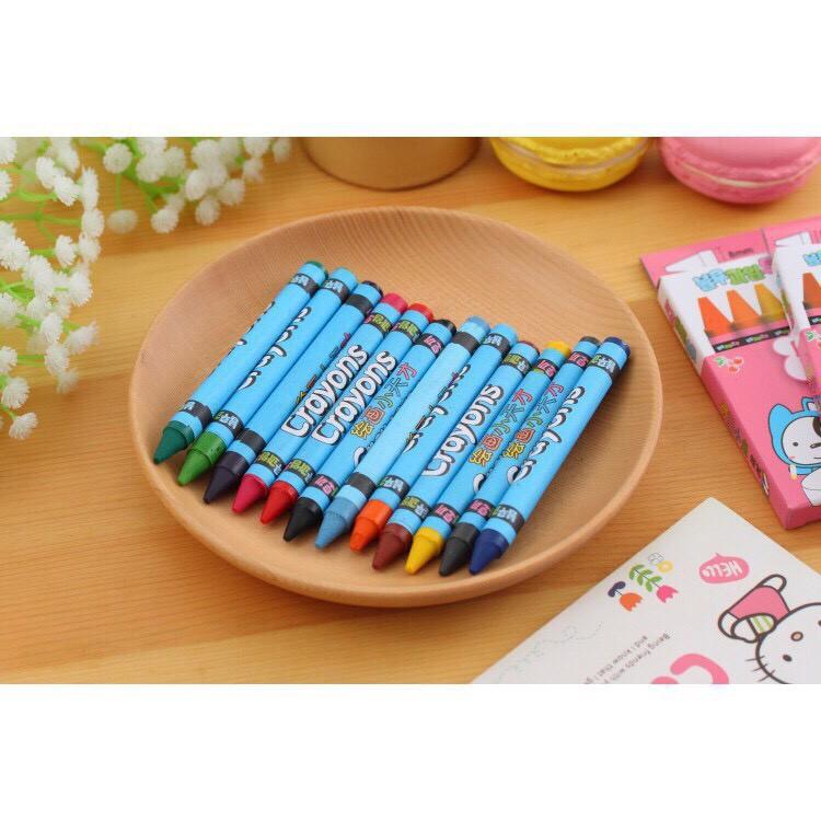 [Mã TOYJAN hoàn 20K xu đơn 50K] Bút màu sáp 12 màu_Bút tô màu cho bé loại tốt