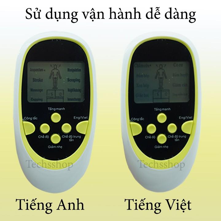 Máy Massage Xung Điện 8 Miếng Dán Pin Tiểu - Máy Mát Xa Trị Liệu