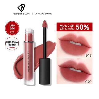 [Mã FMCGMALL - 8% đơn 250K] Son kem lì Perfect Diary Glossy Glasting Lip Stain Liquid Long-lasting Makeup 9 Shades 2.5g thumbnail