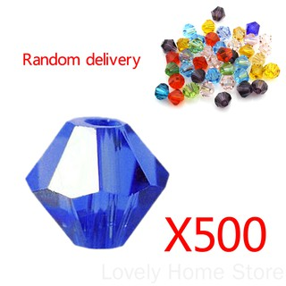 500Pcs Mixed Acrylic Faceted Round Spacer Beads 6Mm doublelift store