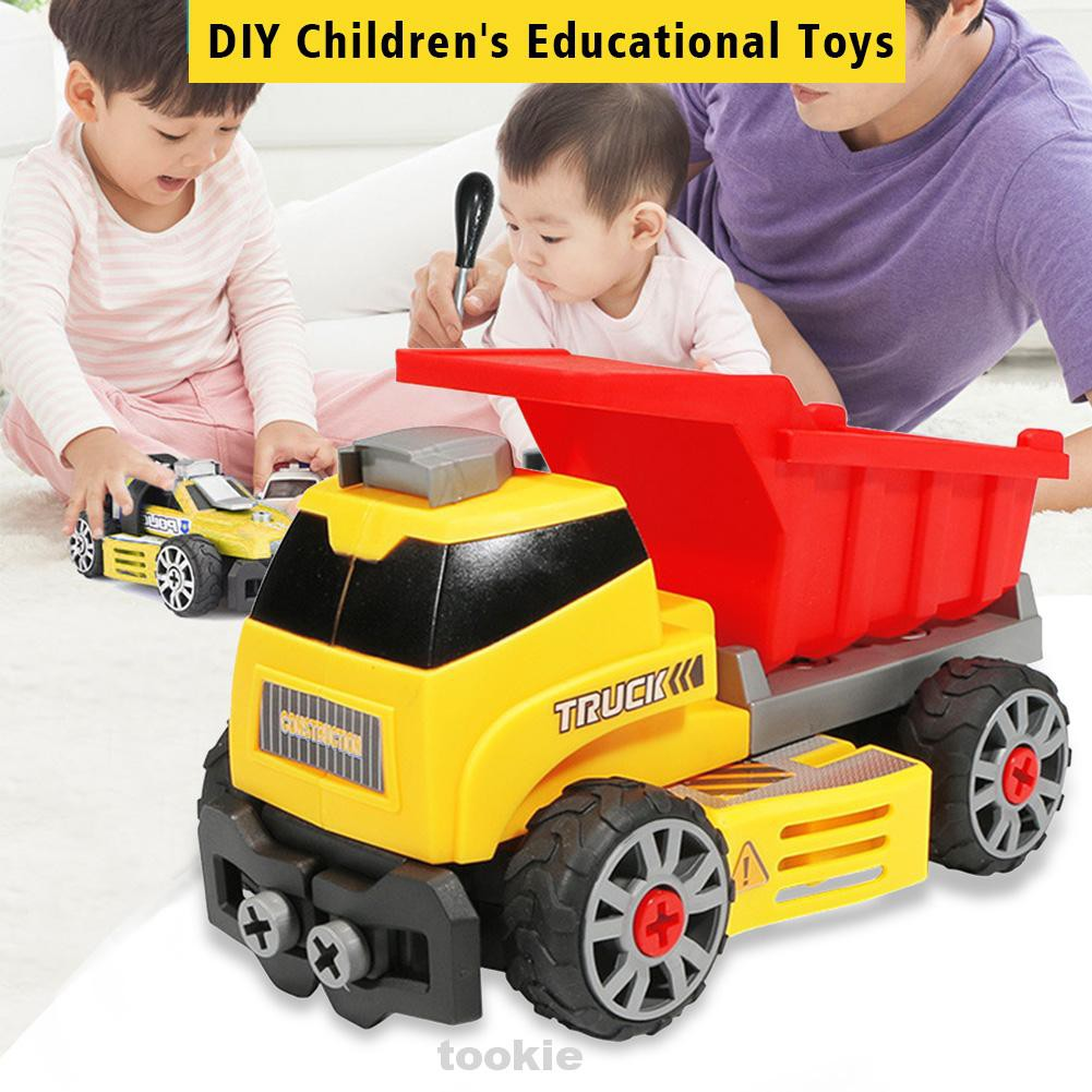 7 In 1 Home Detachable Early Educational Intelligence Development Take Apart Hand Eye Coordination Truck Car Toys