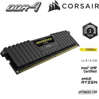 Bộ nhớ RAM dành cho PC CORSAIR VENGEANCE LPX CMK8GX4M1A2666C16 1x 8GB DDR4 Buss 2666 MHz thumbnail