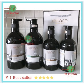 [Siêu Sale] [Chính hãng] Dầu Cặp Gội Xả Thảo Dược Siêu Mượt Millano 500ml, 800ml