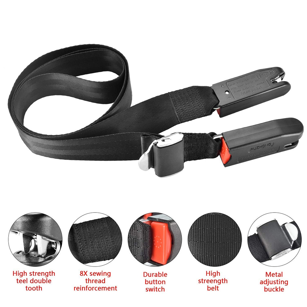 Universal Car Belt For ISOFIX Children Soft Durable Safety Seat Fixed Connect Latch Connector