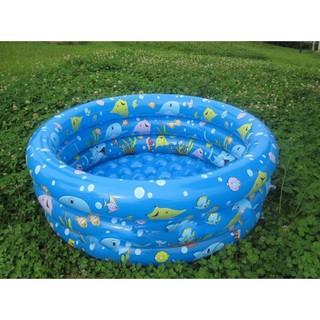 Bể bơi phao 3 tầng cho bé loại 130cmx35cm + Tặng kèm bơm