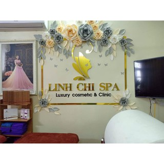 Chữ trang trí tường ,biển quảng cáo chất liệu alu gương vàng có cắt theo mẫu