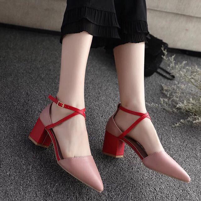 Sandal gót vuông 5p lẻ si