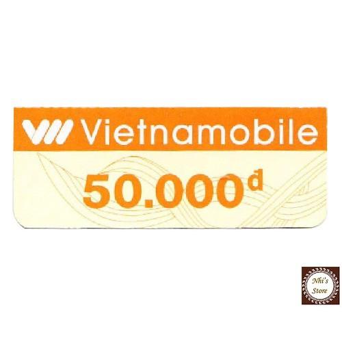 Thẻ cào Vietnamobile 50k nhận mã thẻ qua hộp thư Shopee