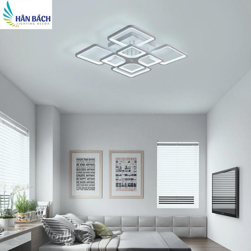Đèn Mâm LED Ốp Trần Hiện Đại Trang Trí Phòng Khách Led 3 Chế Độ
