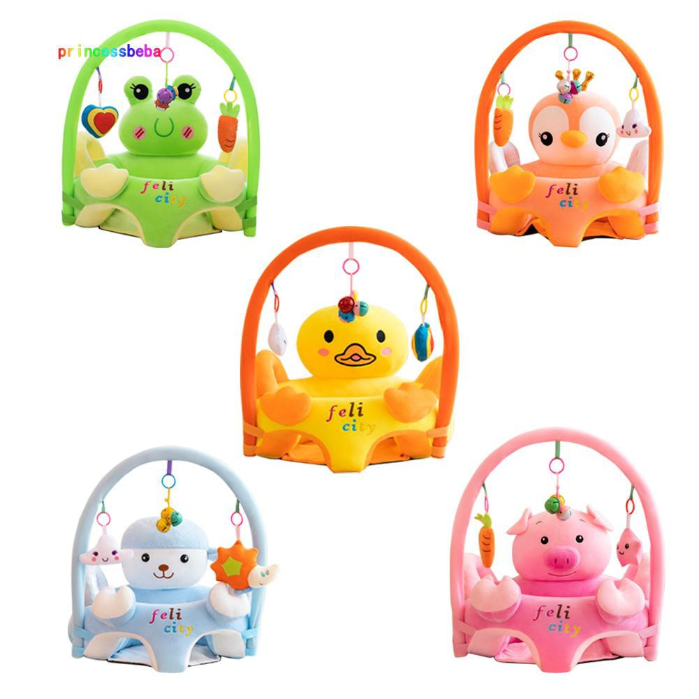 princessbeba Cartoon Baby Sofa Support Seat Cover Learning To Sit Plush Chair w/o Filler
