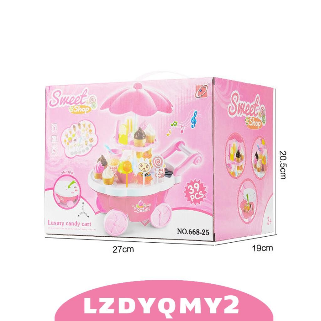 Curiosity Super Fun Kids Ice Cream Shop Playset 39pcs Set Kitchen Pretend Play Toys