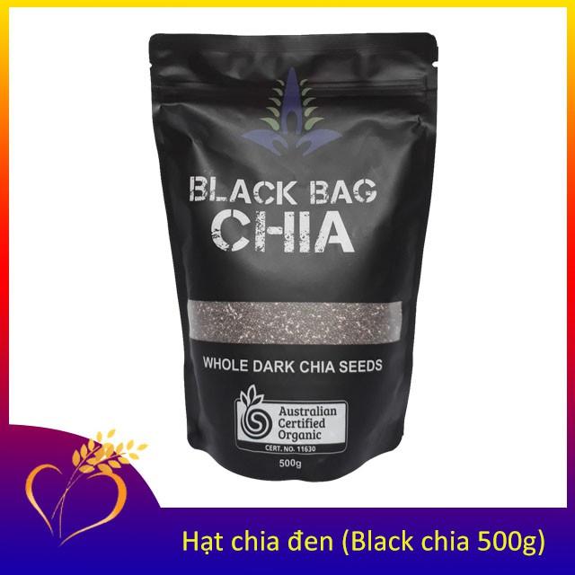 Hạt chia Black Bag Chia 500g từ Úc / Date mới Hạt chia Black Bag Chia 500g từ Úc / Date mới