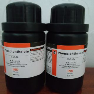 Phenolphtalein dạng bột 25g