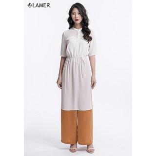 Áo dáng dài chun eo LAMER L61B18T012 (Trắng Be) thumbnail