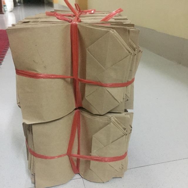 Combo 1100 túi giấy xi măng loại túi 0,5 kt 12x16