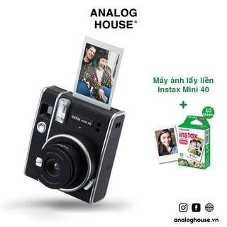 Instax Mini 40 – Máy ảnh lấy ngay Fujifilm Instax Mini 40 – Chính hãng – Bảo hành 1 năm – Tặng kèm 10 film + Pin