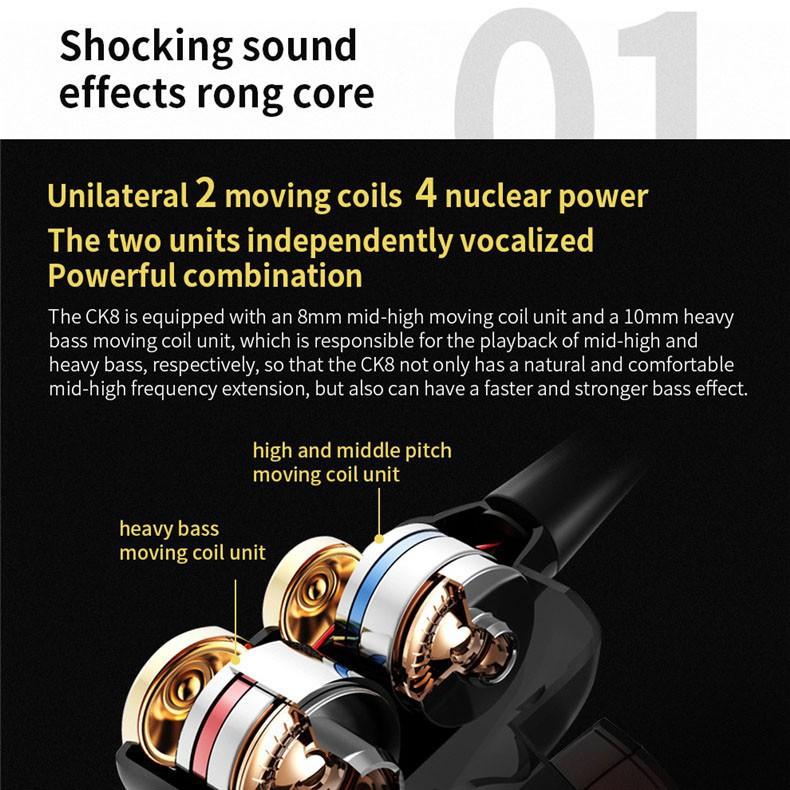 Tai nghe nhét tai QKZ Ck8 dài 1.2m giác cắm 3.5mm