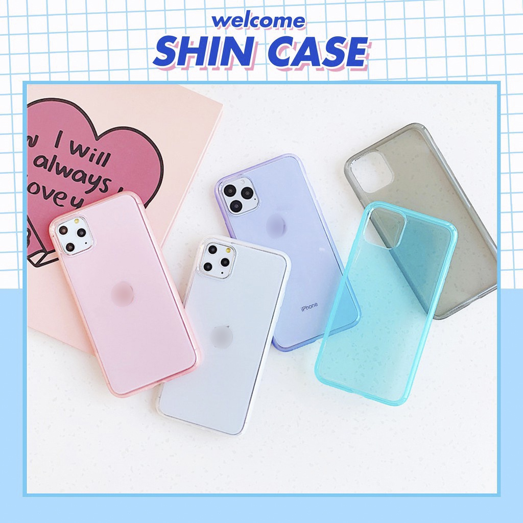Ốp lưng iphone Pastel siêu dày viền mờ 5/5s/6/6plus/6s/6splus/7/7plus/8/8plus/x/xr/xs/11/12/pro/max/plus/promax
