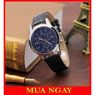 Đồng hồ nam dây da Bams thời trang phong cách Hàn Quốc cực đẹp CFHD DH101
