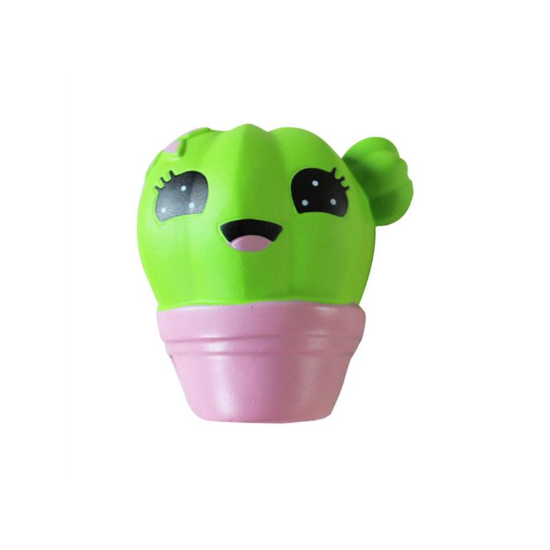 Home Jumbo 10CM Squeeze Toy Cute Cactus anti-stress Fun Gags Squsihy Toys M