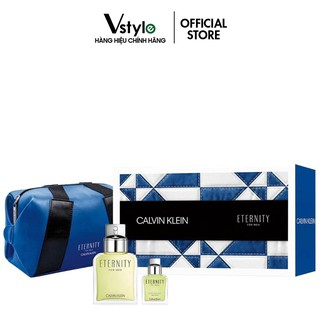 Bộ Quà Tặng Nước Hoa Eternity Calvin Klein For Men EDT Kèm Túi Thời Trang 100ml-15ml thumbnail