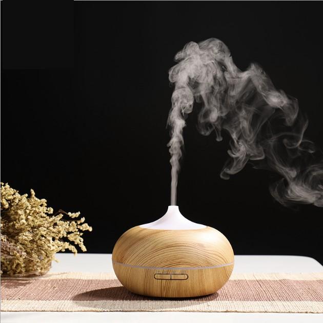 Máy khuếch tán phun sương tinh dầu gỗ lớn 550ml
