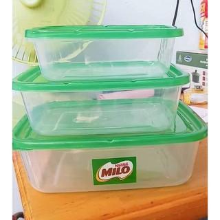 Bộ 3 hộp nhựa Đại Đồng Tiến (630/1250/2200ml) - Hàng khuyến mãi của sữa Milo