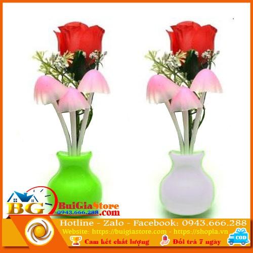 Combo 10 cái đèn nấm - hoa hồng màu ngẫu