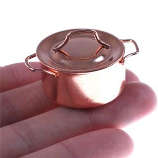 1/12 Dollhouse Miniature Kitchen Copper Pot with Lid