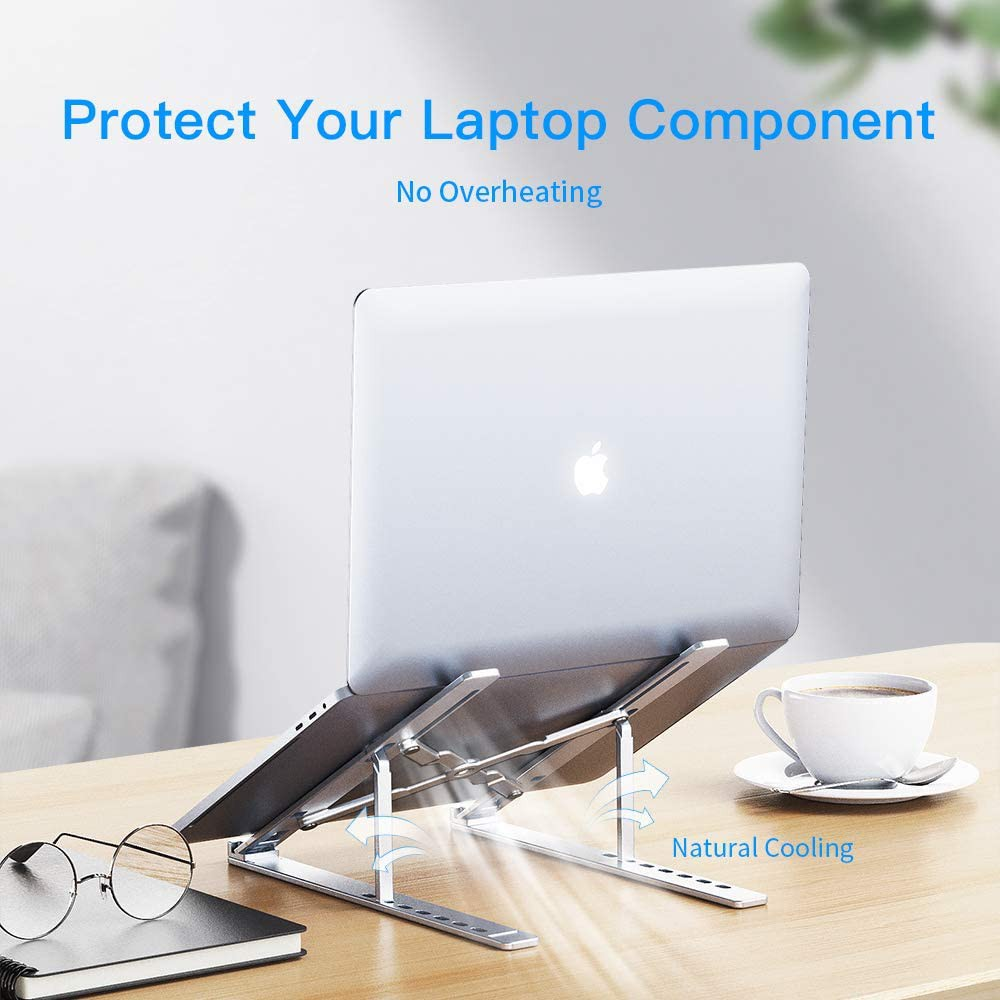 Giá đỡ máy tính bằng hợp kim nhôm INPHIC R5 điều chỉnh 7 cấp độ cho máy từ 10-15,6 inch có thể gập lại - Chính Hãng