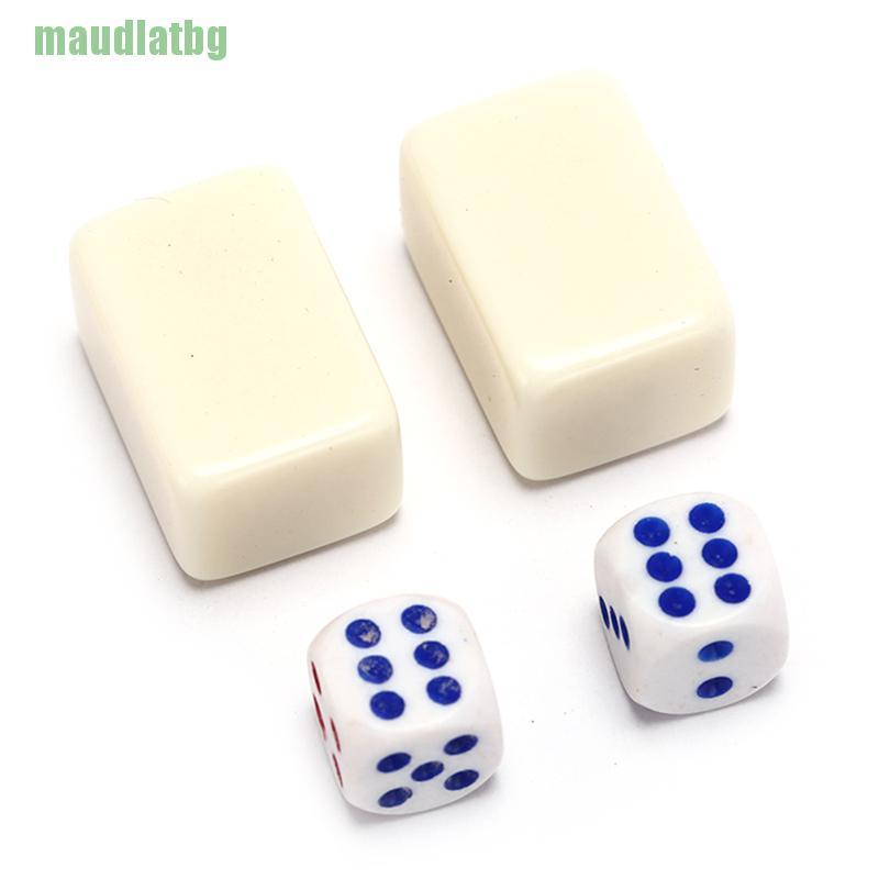 ♦2.2x1.5x1.1cm Mah-Jong Set Multi-color Portable Vintage Mini Mahjong with box