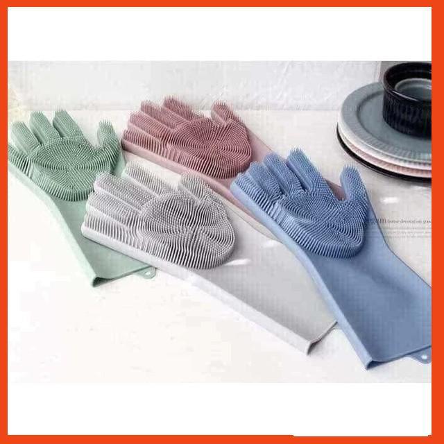 (GIÁ HỦY DIỆT)  Găng tay cao su 2in1 đa năng (silicon)