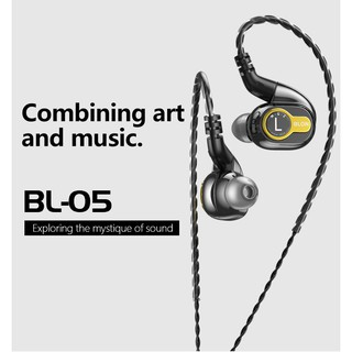 BLON BL-05 BL05 10mm 2nd Generation Carbon Nanotube CNT Diaphragm In Ear Earphone HIFI DJ Sport Earbuds