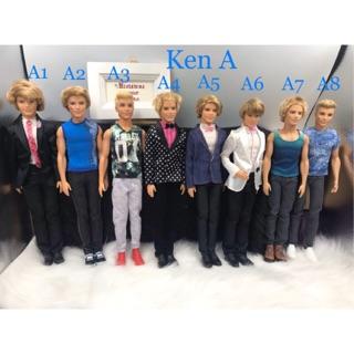 Búp bê ken tóc thật chính hãng. Mã búp bê Ken A thumbnail