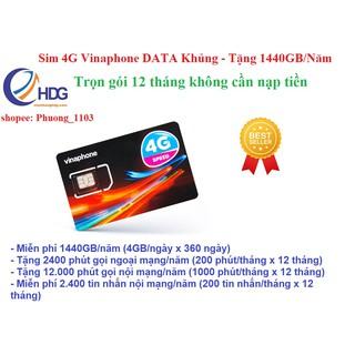 [Mã ELMS5 giảm 7% đơn 300K] Miễn phí 1 năm – SIM 4G Vinaphone 2GB-4GB/ngày, gọi miễn phí cuộc gọi dưới 20p