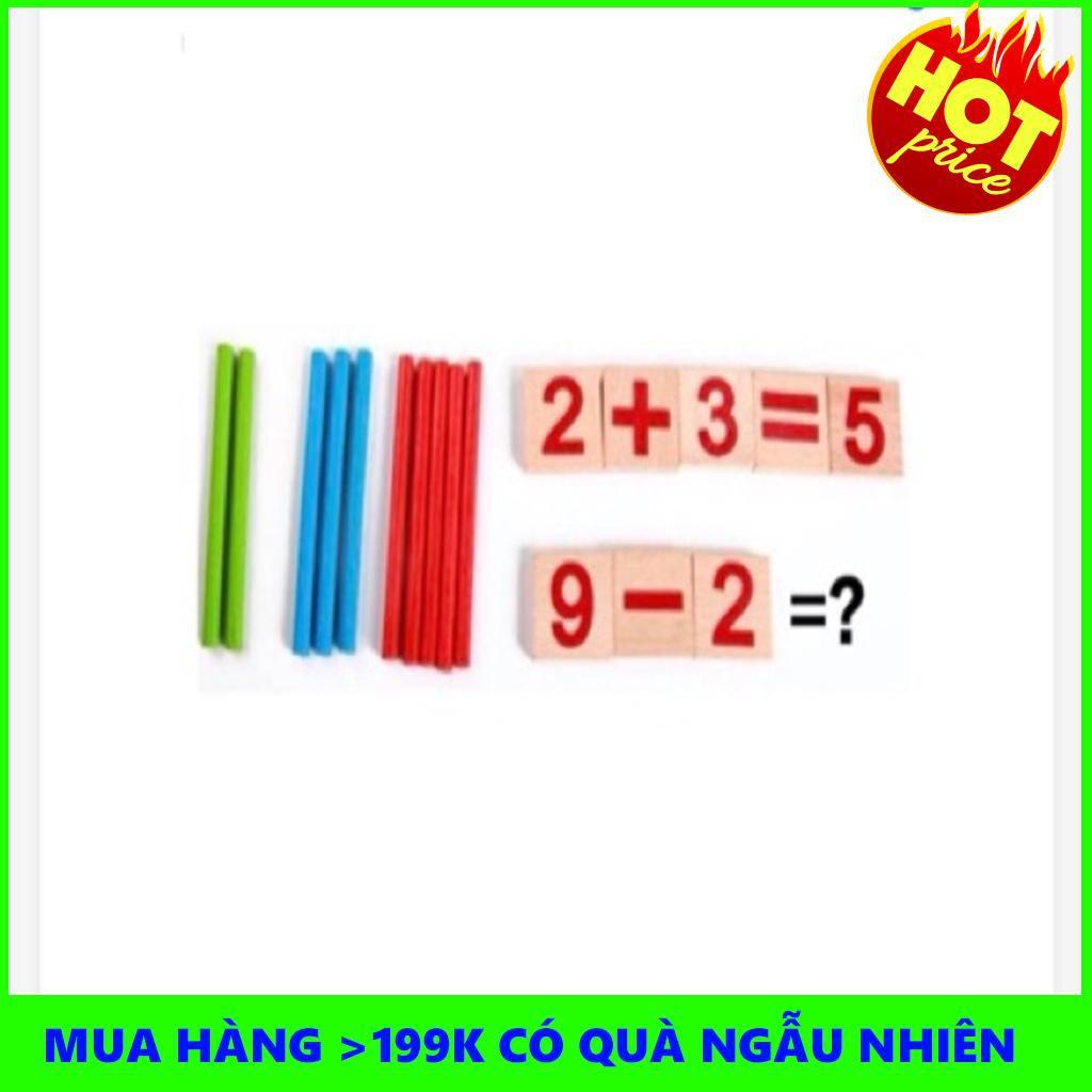 {GIÁ CỰC SỐC} Bộ đồ chơi toán học que tính (vỏ hộp sắt)